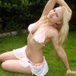 Blonde Teen Plays Outside In Her Thong Bikni - Picture 3