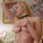 Young Teen Alisa Strips From Black Sheer Babydoll - Picture 11