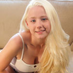 Teen Blonde Girl In Supergirl Panties - Picture 1
