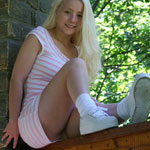 Cute Blonde Teen In Tight Sundress - Picture 9
