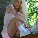 Cute Blonde Teen In Tight Sundress - Picture 10