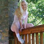 Cute Blonde Teen In Tight Sundress - Picture 11