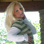 Teen Blonde In Cute Green Shirt - Picture 16