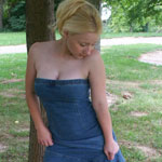 Busting Out Of Tight Jean Dress - Picture 10