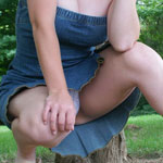 Busting Out Of Tight Jean Dress - Picture 12