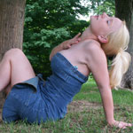 Busting Out Of Tight Jean Dress - Picture 14