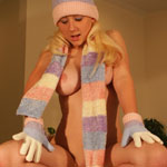 Busty Blonde Bundled Up - Picture 6