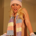 Busty Blonde Bundled Up - Picture 8